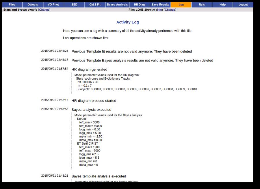 VOSA (VO SED Analyzer)  Help and Documentation (v 6 0)